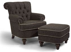 Picture of South Hampton Fabric Chair & Ottoman w/out Nails