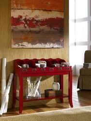 Picture of HIDDEN TREASURES  Red Magazine Table -KD