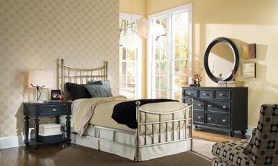 Picture of Camden Dark - Brushed Nickel Bedroom