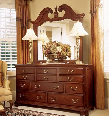 Picture of Cherry Grove Triple Dresser with Mirror